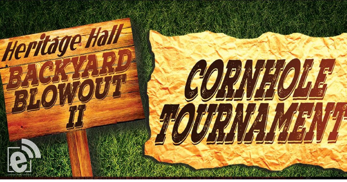 Cornhole Tournament at Heritage Hall's Backyard Blowout