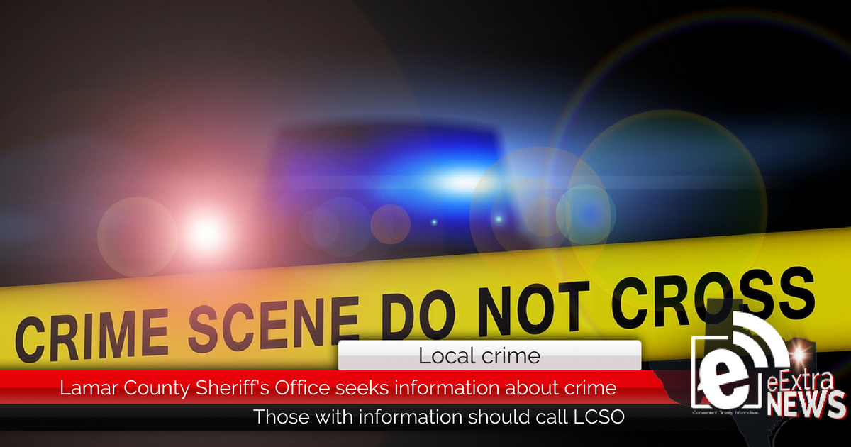 Lamar County Sheriff's Office seeks information about crime