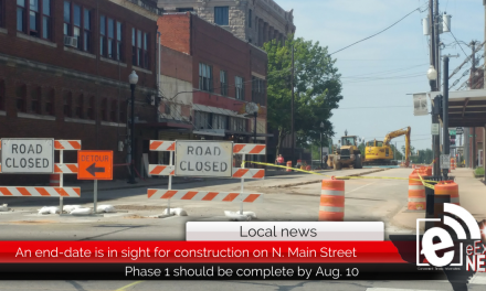 An end-date is in sight for construction on N. Main Street