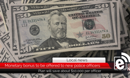 Monetary bonus to be offered to new police officers