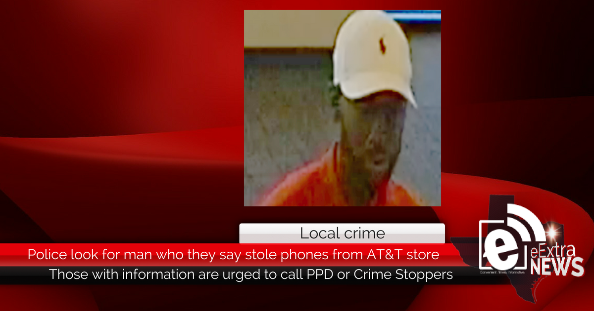 Police look for man who stole phones from AT&T store
