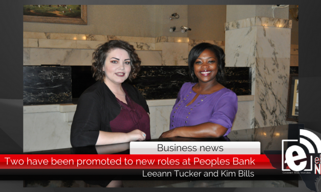 Leeann Tucker and Kim Bills have been promoted to new roles at Peoples Bank