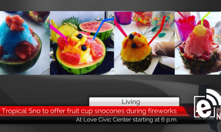 Tropical Sno to offer fruit cup snocones during fireworks at the civic center