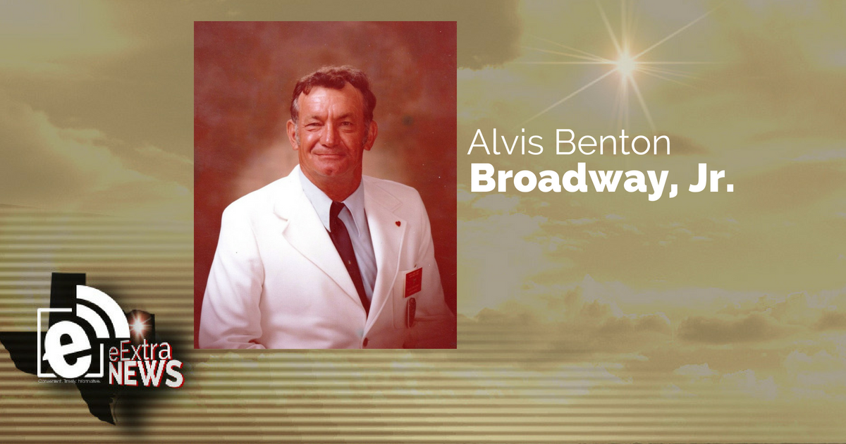 Alvis Benton Broadway, Jr. of Sumner, Texas
