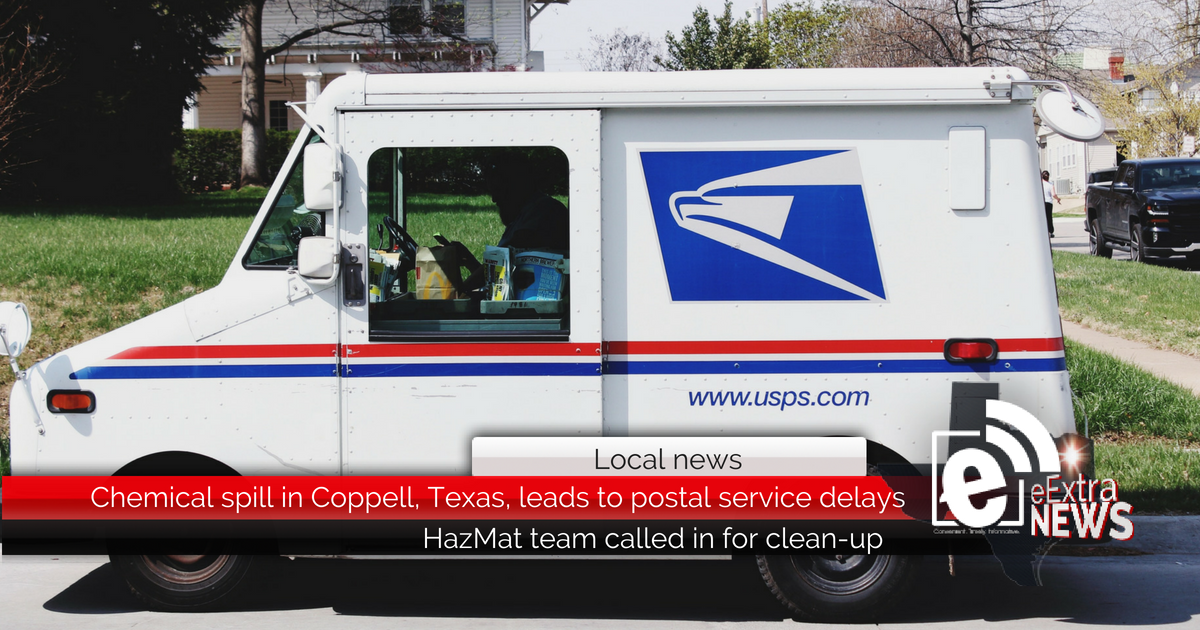 Chemical spill in Coppell, Texas, leads to postal service delays