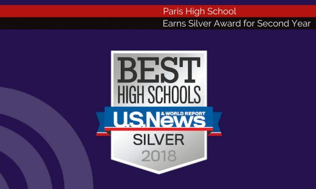 Paris HS Repeats as Silver Award Winner