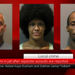 Three are in jail after separate assaults are reported