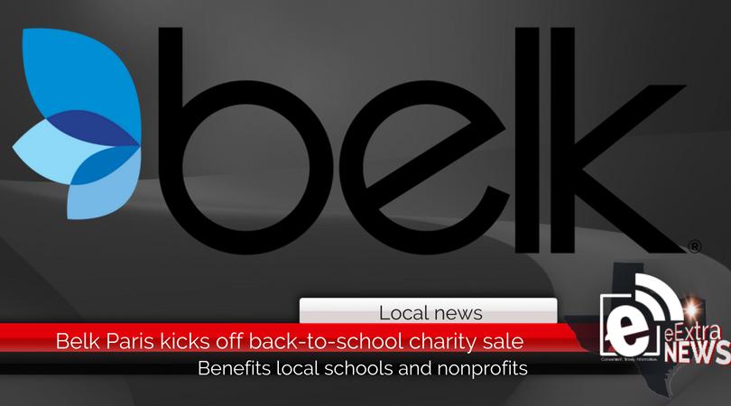 Belk Paris kicks off back-to-school charity sale benefitting local nonprofits and schools