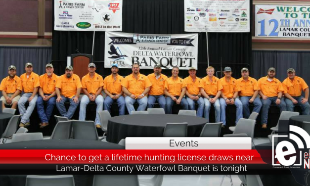 Chance to get a lifetime hunting license is tonight at Waterfowl Banquet