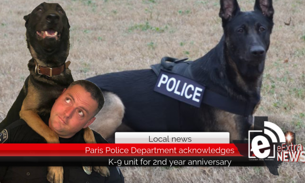 Paris Police Department acknowledges K-9 unit for 2nd year anniversary