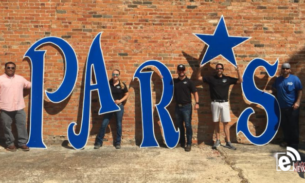 The PAR*S sign is back up at a new temporary location