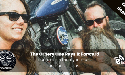 The Ornery One pays it forward, Nominate a family in need