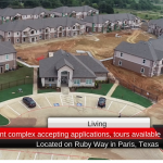 New apartment complex accepting applications, tours available