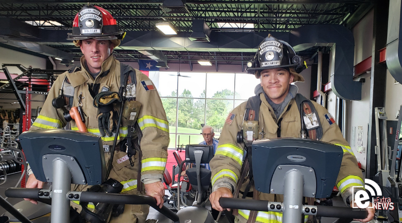 Two Paris firemen climb 110 stories at PFA to honor those from 9/11