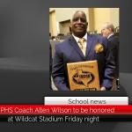 Ex-PHS Coach Allen Wilson to be honored at Wildcat Stadium Friday night