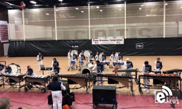 Paris High School Percussion earns Third place and Best Bass Line Award