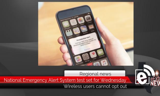 National Emergency Alert System test set for Wednesday