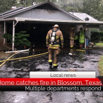 Home catches fire in Blossom, Texas, after homeowners lights heater