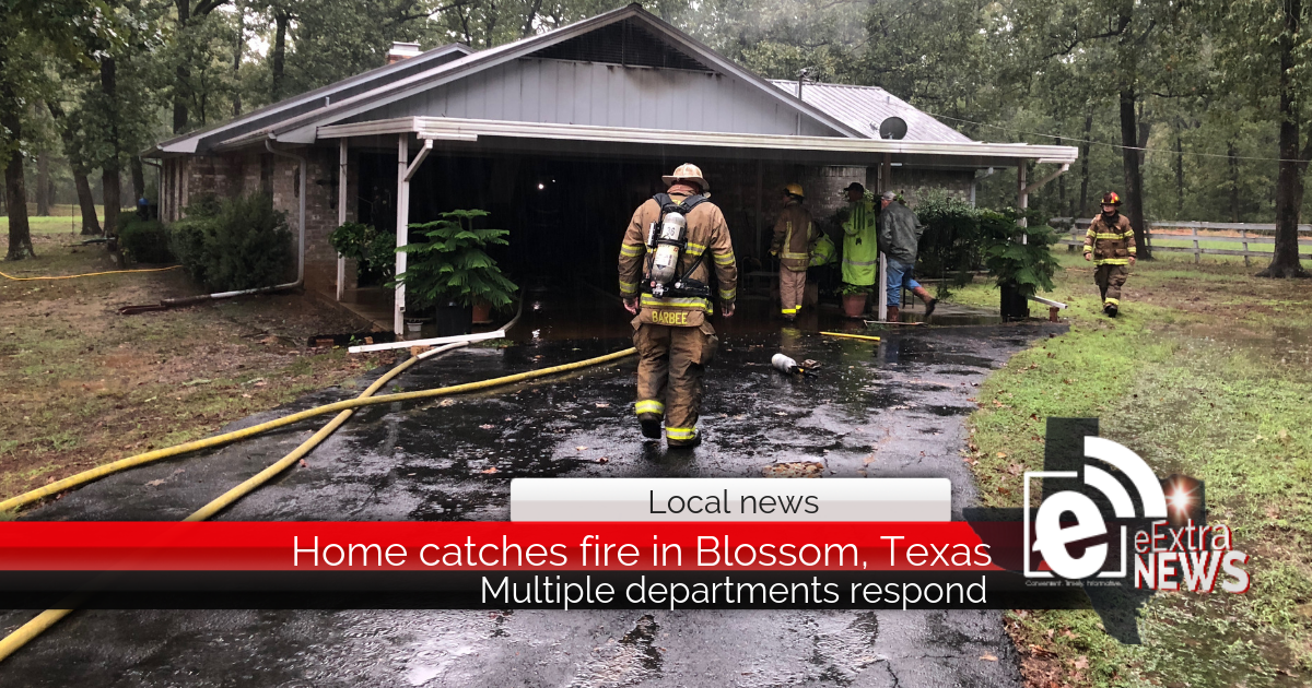 Home catches fire in Blossom, Texas, after homeowner lights heater