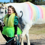 Costumed horse parade and Halloween-themed carnival set