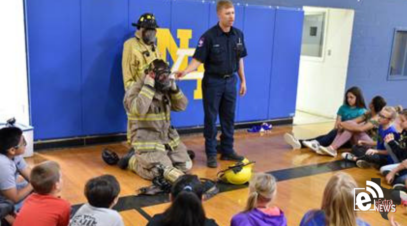 Paris firefighters teach fire safety to North Lamar students
