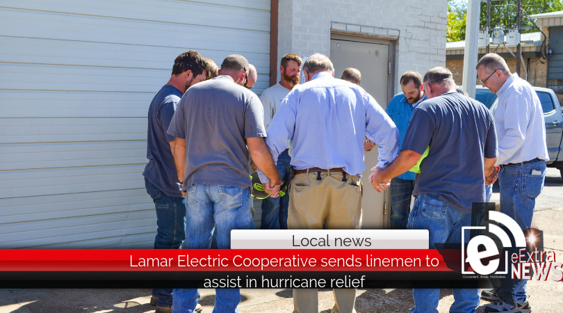 Lamar Electric Cooperative sends linemen to assist in hurricane relief