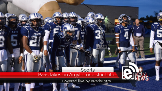 Paris takes on Argyle for district title