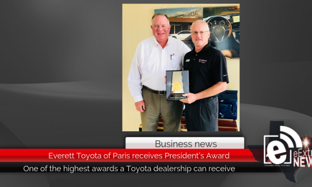 Everett Toyota of Paris receives President's Award