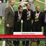 North Lamar Band brings home Bronze at State Marching Competition