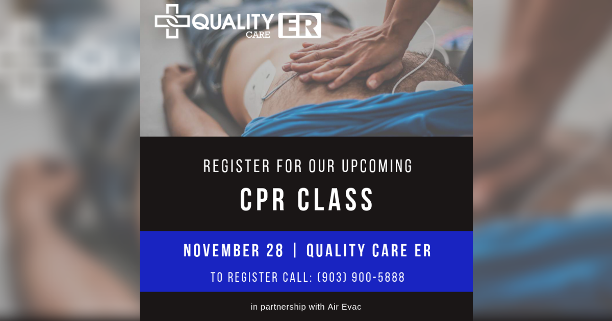 Quality Care ER offers free CPR class
