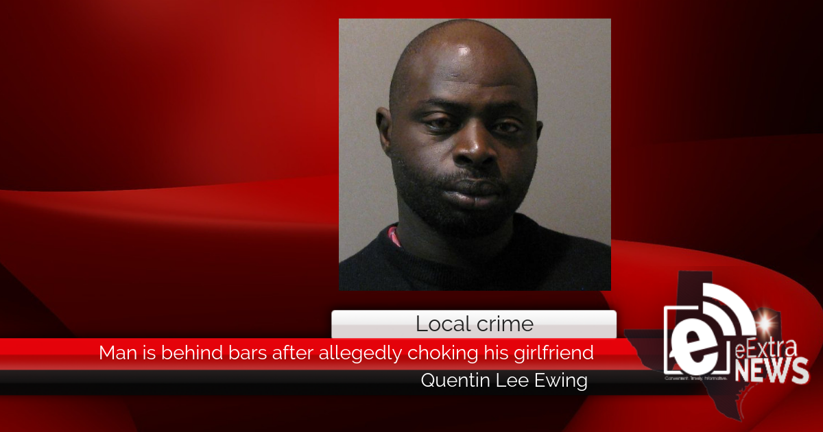 Man is behind bars after allegedly choking his girlfriend