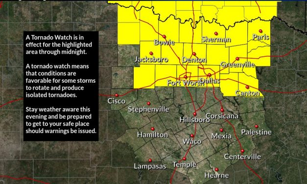 Tornado Watch is in effect