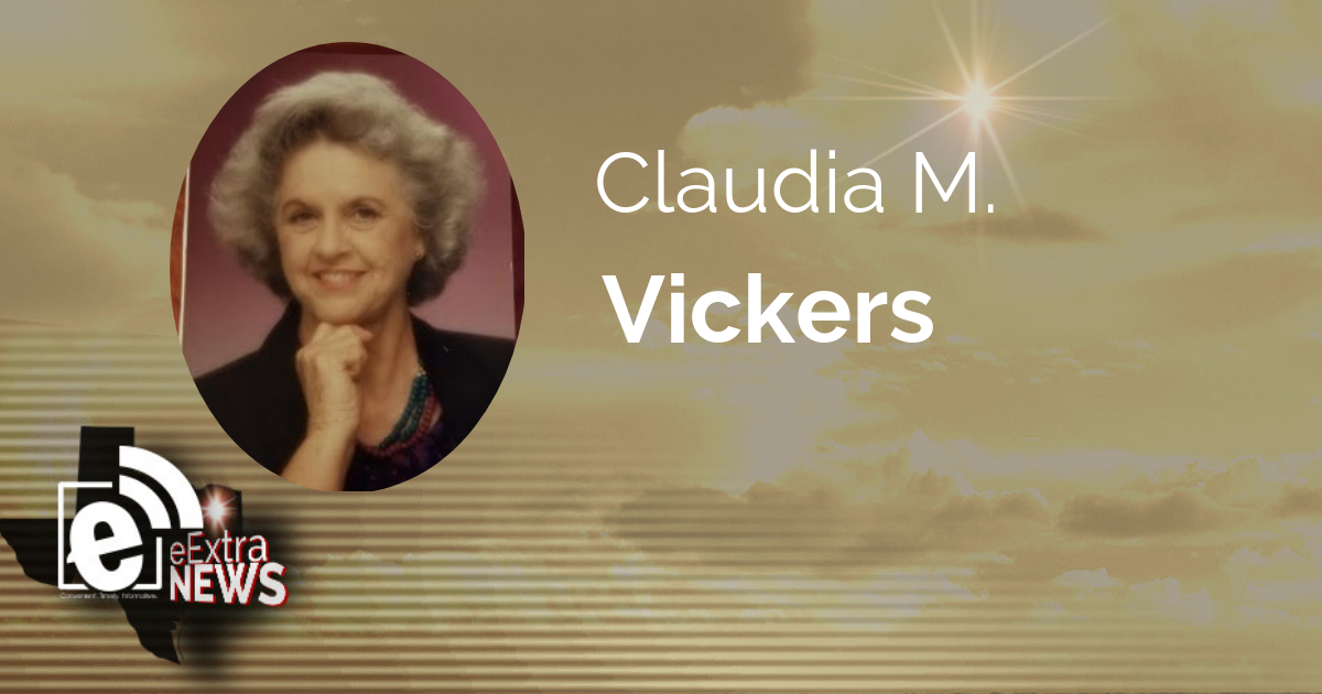 Claudia M. Vickers of Paris, Texas