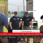 Four Paris locals on their way to assist with California Wild Fires