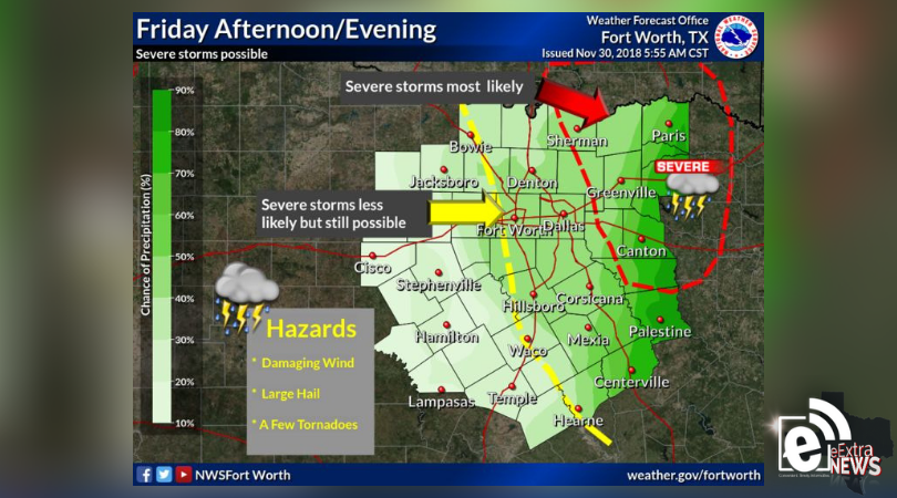 Risk of severe thunderstorms, isolated tornadoes possible today