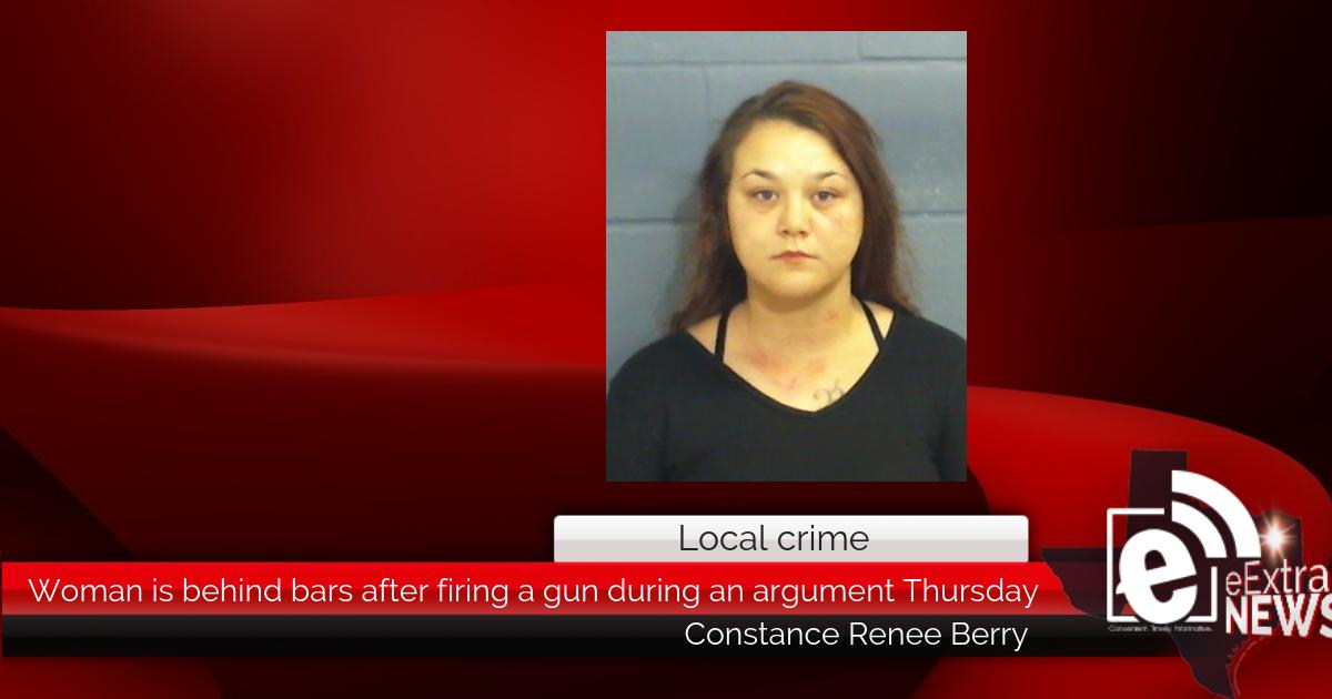 Woman is behind bars after firing a gun during an argument Thursday morning