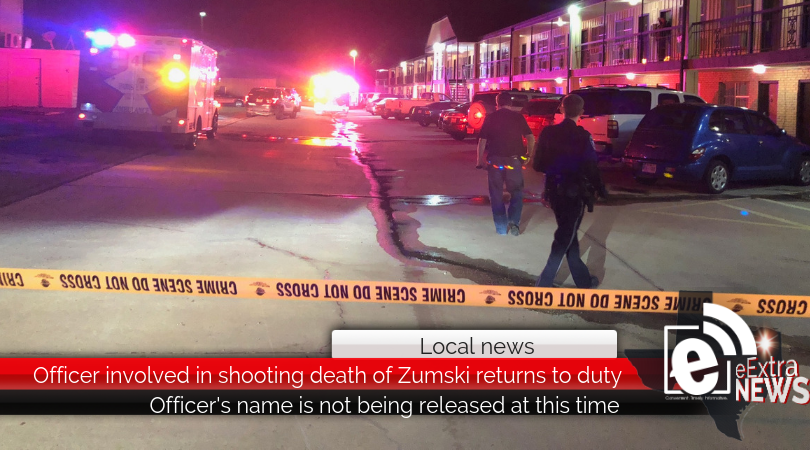 Officer involved in shooting death of Zumski returns to duty