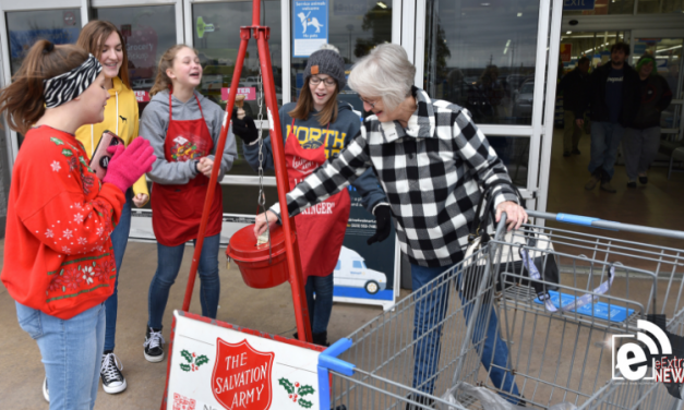 Ringing bells to fill the kettle || Collecting change for those in need