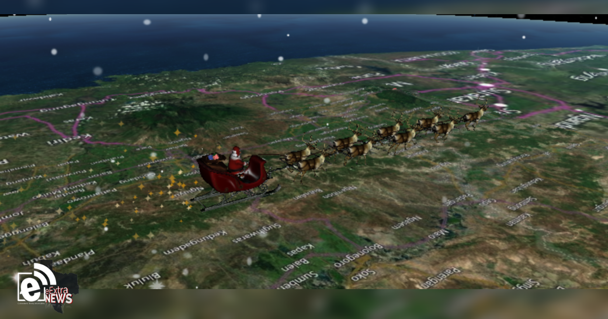 Santa tracker map in 3D