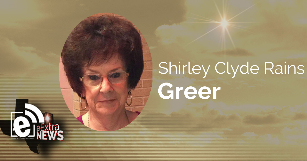 Shirley Clyde Rains Greer of Paris, Texas