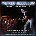 Parker McCollum on stage in Broken Bow next Friday