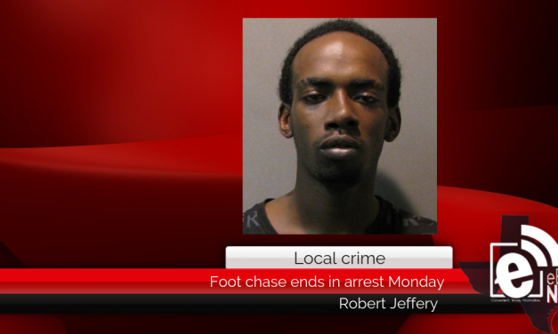 Foot chase ends in arrest Monday