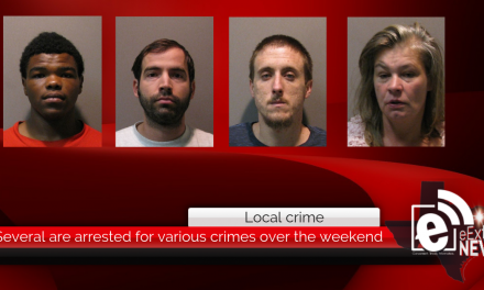 Several are arrested for various crimes over the weekend