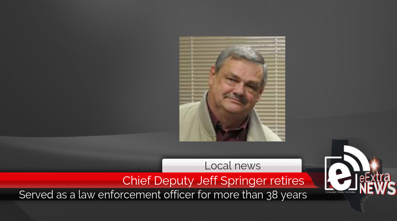 Chief Deputy Jeff Springer retires from Lamar County Sheriff's Office