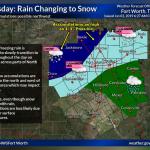 Rain-snow mix possible for Thursday
