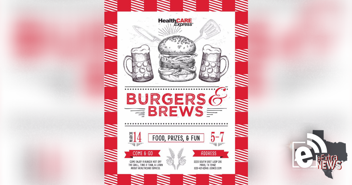 Burgers and Brews set for March 21, 2019
