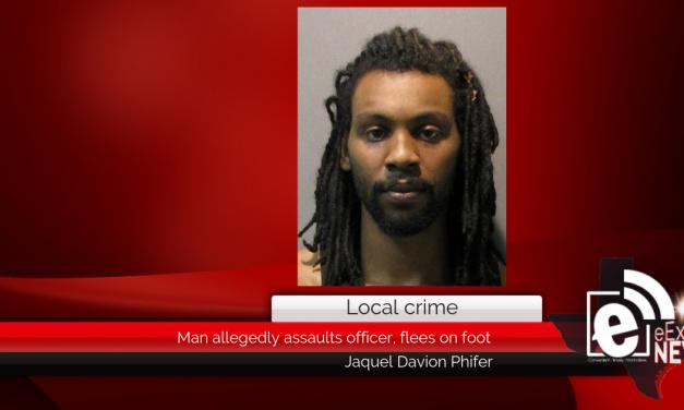 Man allegedly assaults officer, flees on foot || Jaquel DavionPhifer