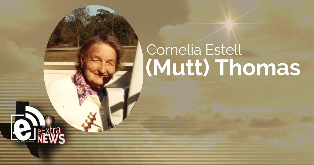 Cornelia Estell (Mutt) Thomas of Paris, Texas