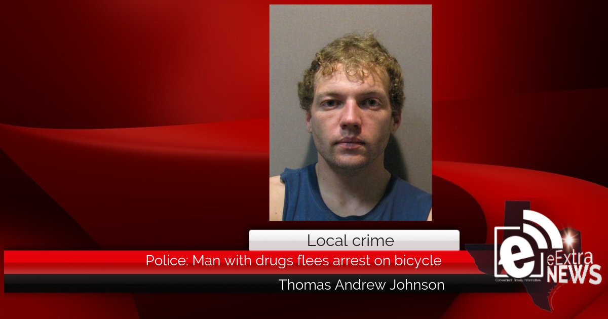 Police: Man with drugs flees arrest on bicycle