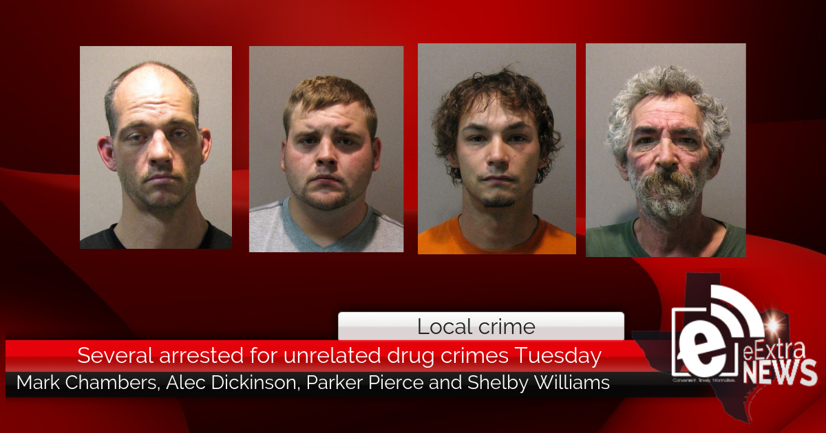 Several arrested for unrelated drug crimes Tuesday